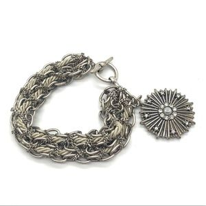 💝Chain w/Rope material Intertwined Bracelet